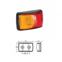 LED Marker Lamp - Model 14 - Red-Amber - Side Marker