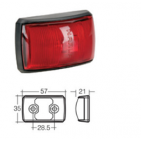 LED Marker Lamp - Model 14 - Red - Rear Marker