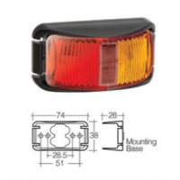 LED Marker Lamp - Model 16 - Red-Amber - Side Marker