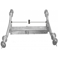 CM Wobble Roller - Beam for Quad Roller Axle